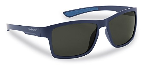Flying Fisherman 7863NS Tiki Polarized Sunglasses, Matta Navy Frame, Smoke - Tiki Sunglasses
