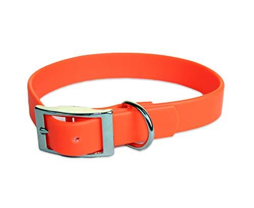sleepy pup Waterproof Dog Collar - Orange - Medium - Made in The USA