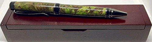 Purple & Lime Green Partagas Ballpoint Pen - Black Titanium - Bendecidos Pens - Handmade Wood Pen   Birthday, Anniversary, Wedding, Fathers Day & Graduation Gifts
