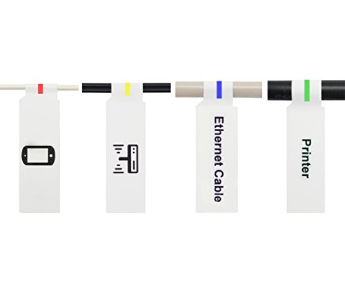 Mr-Label Inkjet & Laser Printer Support Waterproof Cable Label - Letter Sheet - Self-adhesive & Durable - with Print Tool (10 Sheets, 300 Labels, white)