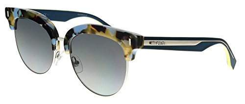 Fendi - COLOR BLOCK FF 0154/S, Cat Eye, acetate/metal, women, BLUE HAVANA TEAL/GREY SHADED(UDT/VK), 54/17/140
