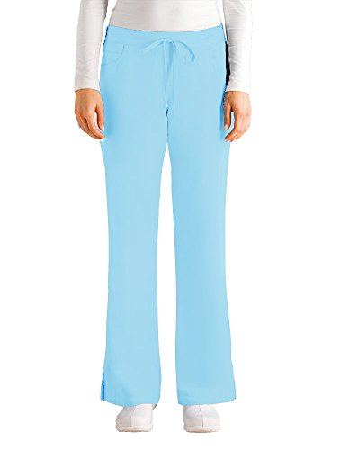 Grey's Anatomy Women's Junior-Fit Five-Pocket Drawstring Scrub Pant - Large - Sky Blue