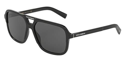 Dolce and Gabbana DG4354 501/87 Black DG4354 Square Sunglasses Lens Category ()