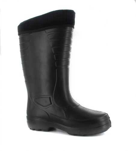BOCKSTIEGEL - Heiko - Herren EVA-Gummistiefel - Schwarz Schuhe in Übergrößen, Größe:47