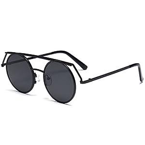 Konalla Personalized Metal Frame Round LensesUV Protective Sunglasses C1