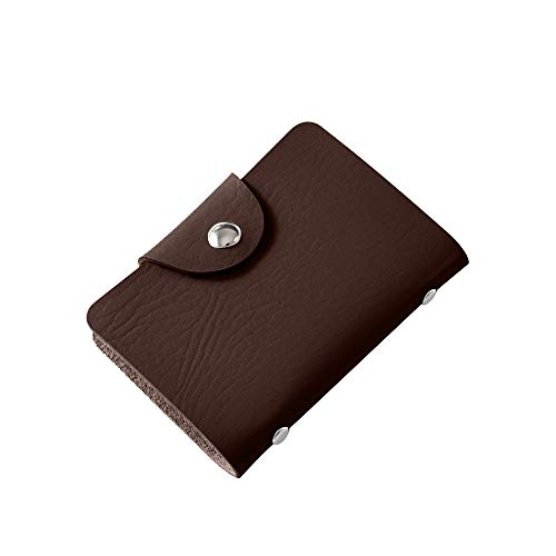 SUJING Credit Card Wallet Bussiness Card Holder Bank Card Purse ID Card Bag (Coffee) ()