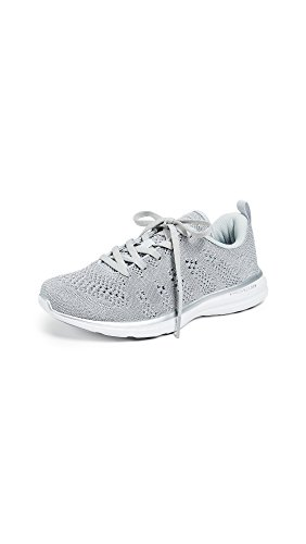 APL: Athletic Propulsion Labs Women's Techloom Pro Sneakers, Metallic Silver/White, 10.5 B(M) US