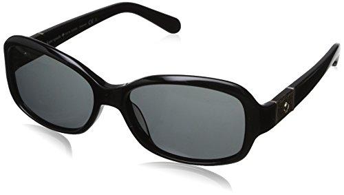 - Kate Spade Women's Cheyenne Polarized Round Sunglasses, Black, 55 mm