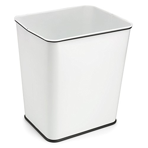 Polder 1410-90R Under-Counter 7-Gallon Trash Waste Can, White (Trash Cans Polder)