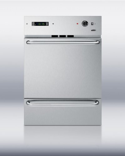 Stainless Steel Wall Oven With Professional Towel Bar Handles Digital Clock and Timer Lower Broiler Compartment Broiler Pan Included Interior Light & Porcelain Construction