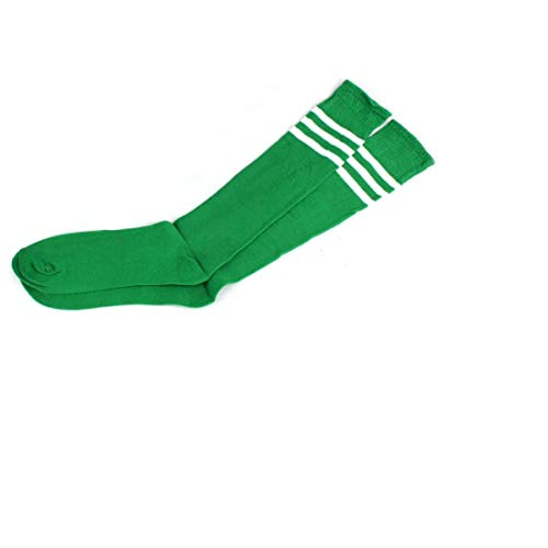 Socks for Women Girls Knee High Sports Football Tube Soccer Classic Triple Stripes Retro Thigh by ()