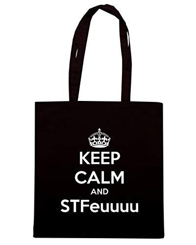 Shirt Nera AND Borsa STFEUUUU Shopper Speed CALM TKC0810 KEEP tzqdqxw