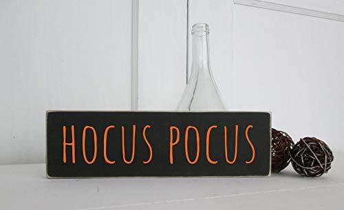 weewen Hocus Pocus Halloween Sign Sayings Home Decor Wall Art Plaque Sign Presents]()