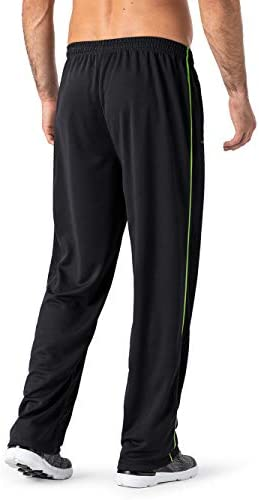 31 Fd5U GLL. AC MAGNIVIT Men's Lightweight Sweatpants Loose Fit Open Bottom Mesh Athletic Pants with Zipper Pockets    Product Description