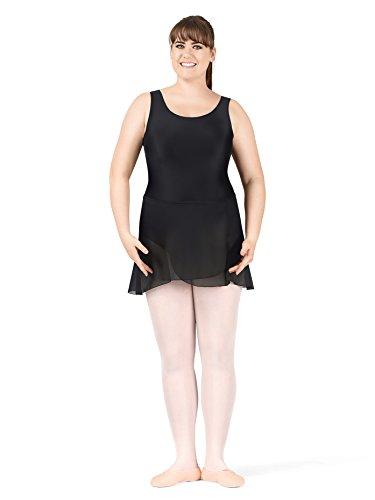 Natalie Dancewear Adult Plus Size Wrap Skirt,N8334WBLK,multi-colored,One-Size