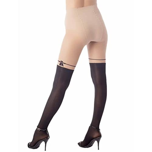 iB-iP Femme Conception De Point Bas De Genou Hau Mid Taille Collants Extra- fd1581be47a