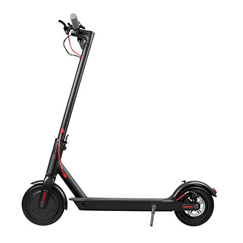 Lightweight Foldable Manual Electric Scooter Folding Commuter KickScooter Carbon Fiber Commuter E-Scooter for Adults 500W/42V Long-Range Battery ()