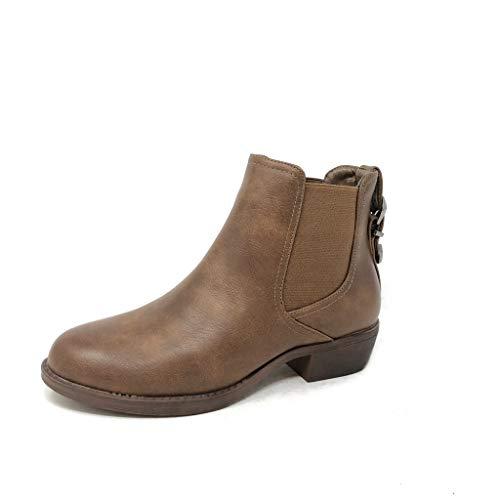 Scarponcini Blocco Di Moda Roccia Boots Leggermente Cavalier A Tanga Pelliccia Donna 3 Foderato Scarpe Angkorly Stivaletti Chelsea Fibbia Cm Cammello 5 Tacco wBW4nAtOq
