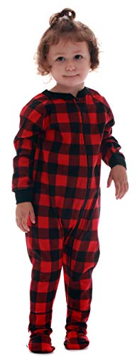 #followme Buffalo Plaid Blanket Sleepers 95149-10195-24M
