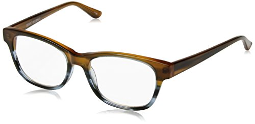 Corinne McCormack Women's Hillary Square Reading Glasses, Brown Fade, - Sunglasses Hillary