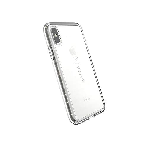 Speck Products GemShell Glitter iPhone Xs/iPhone X Case, Clear with Gold Glitter/Clear
