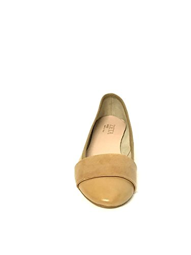 Made MainApps Tacco SHOES in Ballerine Marrone Vera Basso ZETA Italy Pelle Fascia p8w7qpF