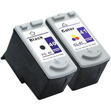 (InkClub Remanufactured 2PK PG-40 and CL-41 Inkjet Cartridge Replacement for Canon FAX-JX200, FAX-JX210P, PIXMA iP1600 iP1700 iP1800 iP2600 MP140 MP150 MP160 MP170 MP180 MP190 MP210 MP450 MP460 MP470 MX300 MX310, PowerShot A530 PIXMA MP460 Combo)