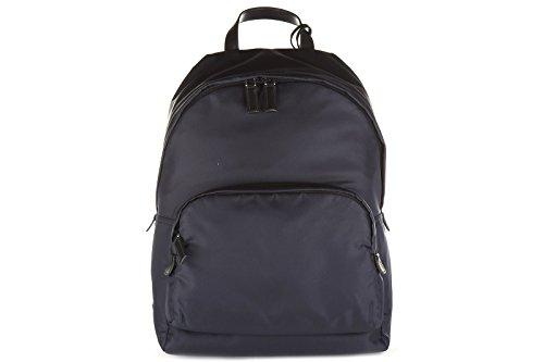 Prada men's Nylon rucksack backpack travel montagn blu