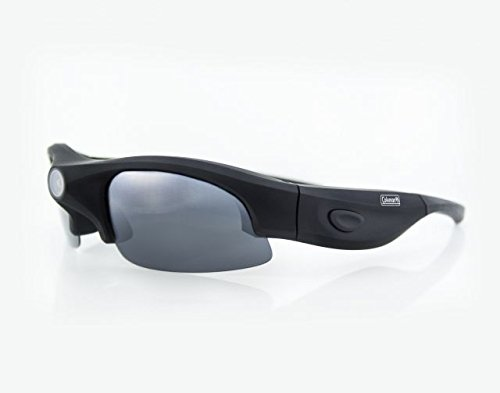 Coleman G3HD-SUN VisionHD Full High Definition 1080p HD Video Sunglasses with Interchangeable Polarized Lenses (Black) by Coleman