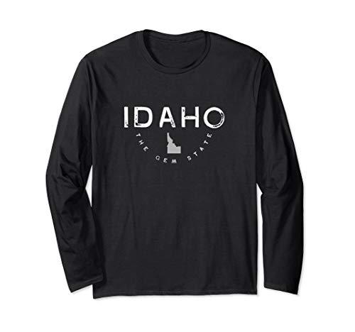 Idaho The Gem State Graphic Vintage Retro Long Sleeve T-Shirt