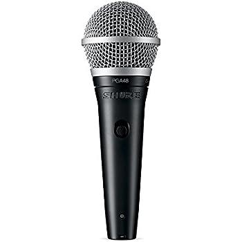 Shure PGA48-XLR Cardioid Dynamic Vocal Microphone with 15' XLR-XLR Cable