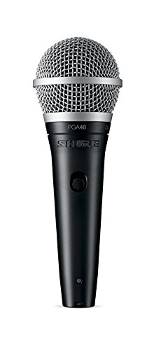Classic Cardioid Dynamic Microphone - Shure PGA48-XLR Cardioid Dynamic Vocal Microphone with 15' XLR-XLR Cable
