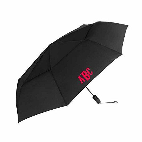 Monogrammed with Commercial Brother Machine Umbrella Customized by You (Black)