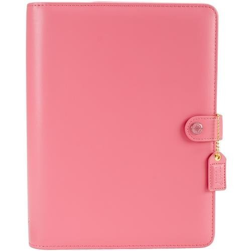Color Crush A5 Faux Leather Planner Kit 7.5x10-Light Pink