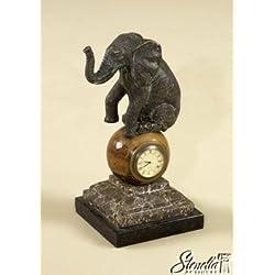 Maitland Smith 1358-039 Decorative Elephant Clock ~ NEW