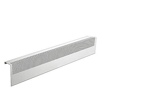 Basic Series Galvanized Steel Easy Slip-On Baseboard Heater Cover in White (3 ft, Cover, No Accessory) ()