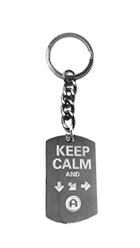 Keep Calm & Do A Special Move - Metal Ring Key Chain Keychain