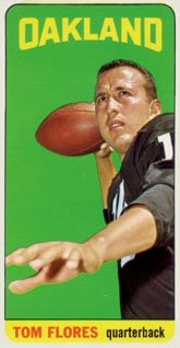 1965 Topps Regular (Football) Card# 139 Tom Flores of the Oakland Raiders Ex Condition