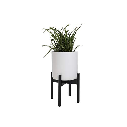 - Sona Home Adjustable Mid Century Plant Stand | Available in 3 Sizes, 2 Colors | Stylish & Versatile Modern Plant Stand for Indoor & Outdoor Use | Fits Pots Up to 12