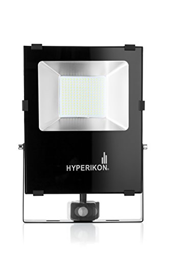 1. Hyperikon LED Motion Sensor Light, Large Outdoor Flood Light, IP65, 100W-200W, 5000K