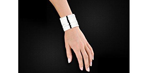 Canyon bijoux Bracelet manchette fils en argent 925 passivé, 59.4g, Ø55mm
