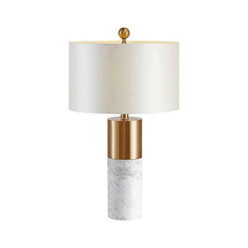 Marble Mini Decor Table Lamp, Nordic Simple Table Lights Glass Globe Shade White, Comtemporary Desk Light 1 Light for Reading Draft Office (Color : White)