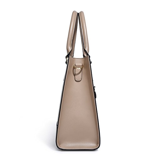 Satchel Kadell Bags Handbags Fashion Handle Tote Shoulder Large Top Messenger Leather Brown PU Women 66v7p