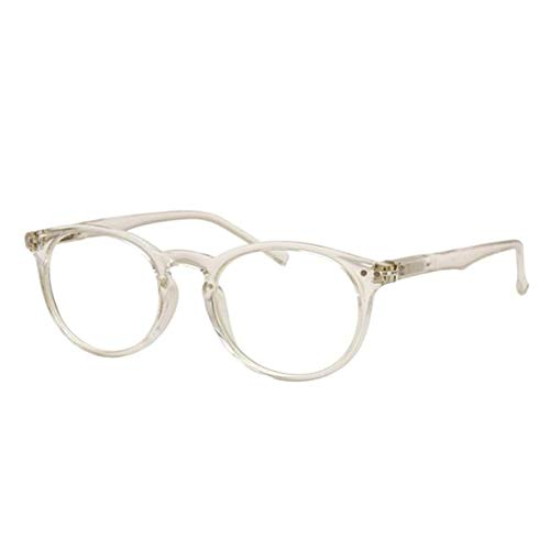 High Magnification Power Strong Reading Glasses Readers +4.00 to +6.00 (Clear, +4.00)