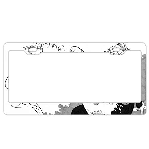 KSLIDS 6x12 Inches Home and Bar Wall Decor Car Vehicle License Plate Creepy -