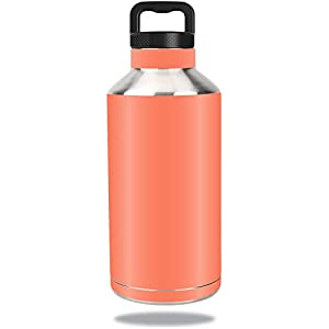 MightySkins Protective Vinyl Skin Decal for Ozark Trail Water Bottle 64 oz wrap cover sticker skins Solid Salmon