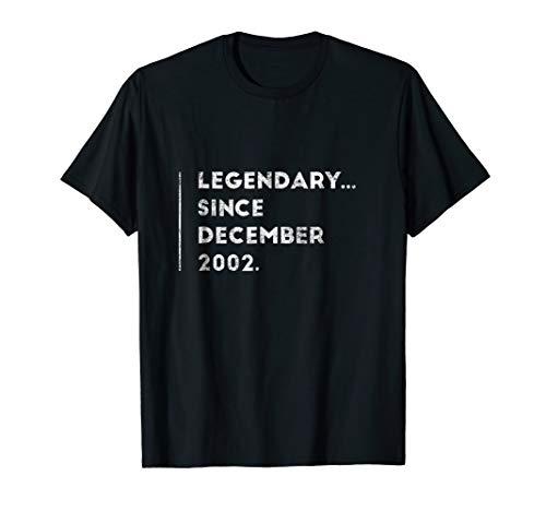 Legendary Since December 2002 Sweet 16 Birthday Gift T-Shirt -
