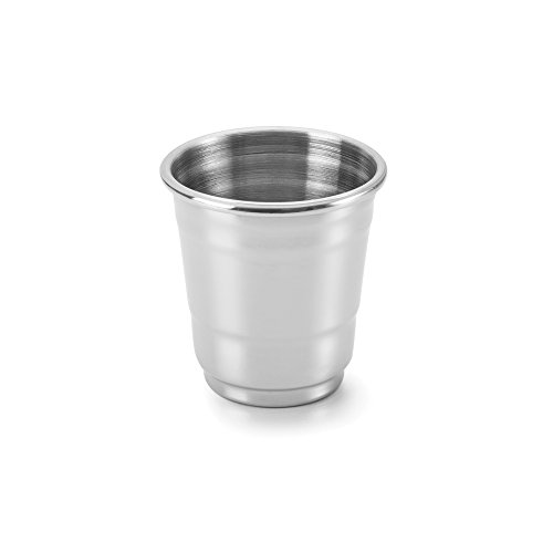 Outset 76426 Stainless Steel Chillware Shot Glasses, 2 x 2 x 4.5 inches, ()