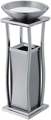 LSLMCS Papeleras de Reciclaje, Cubos de Basura Cubierta de Reciclaje de residuos de Metal al Aire Libre Cubos de Basura Compost papeleras con cenicero Peel Cubo for el Dormitorio Baño, Cocina, Jardín: