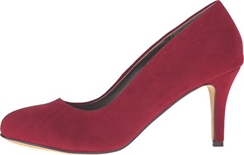 Michael Antonio Womens Finnea-sue-vel Dress Pump Rosso Pelle Scamosciata / Velluto